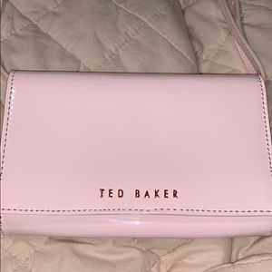 Ted Baker pink patent leather purse